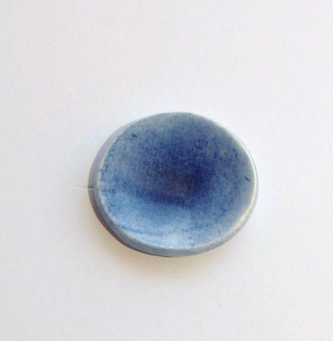 画像1: 丸小皿・ブルー