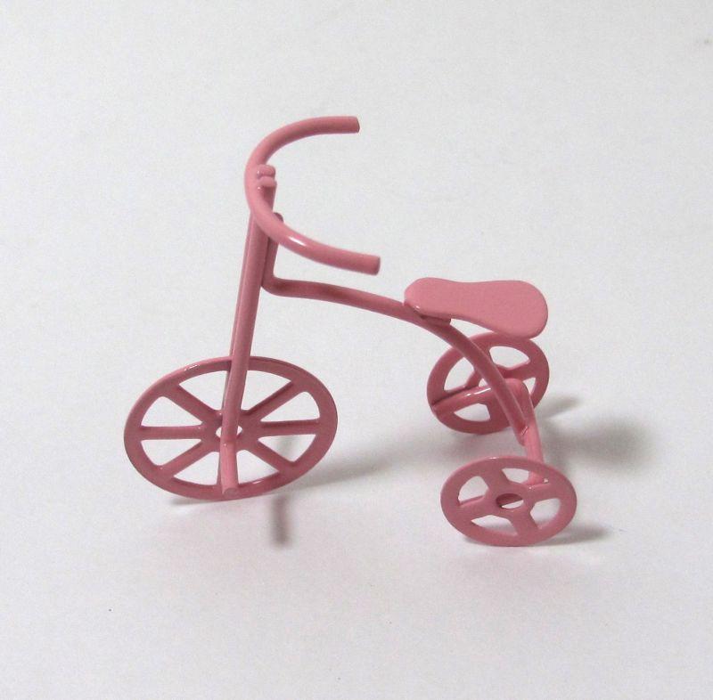 画像1: 三輪車・ピンク