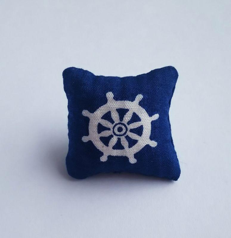 画像1: クッション・面舵 紺色