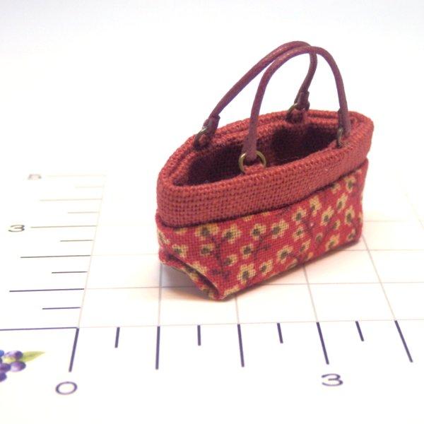 画像2: ミニトートバッグ 赤柄