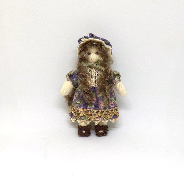 画像1: 人形(紫柄)