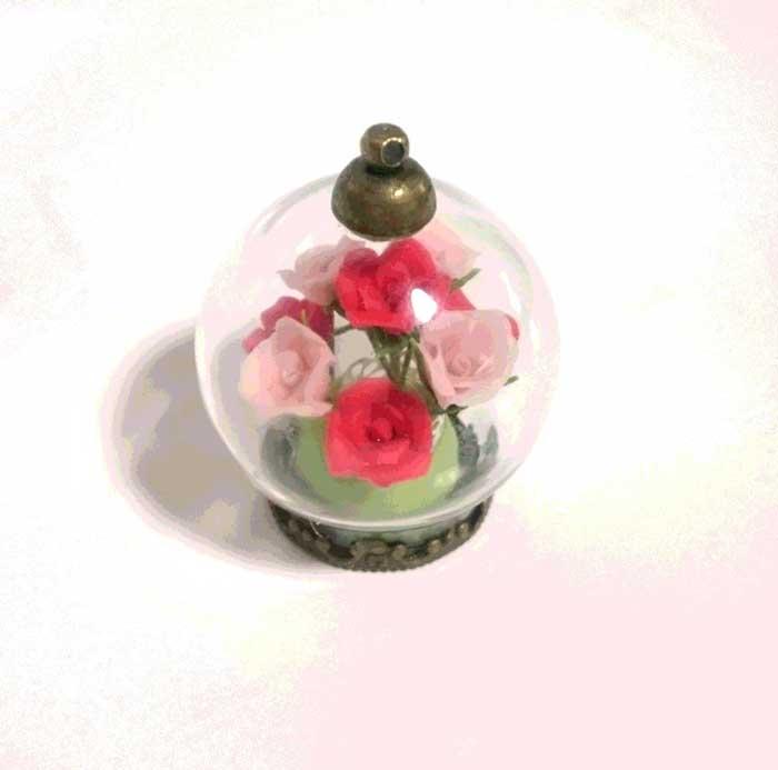 画像2: ガラスドーム(バラ)