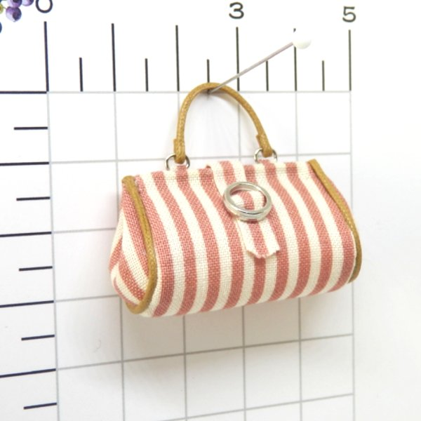 画像2: ピンクストライプバッグ
