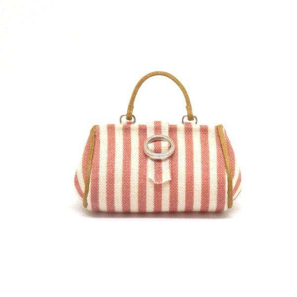 画像1: ピンクストライプバッグ