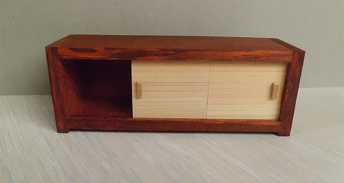 画像2: 茶色の横長棚