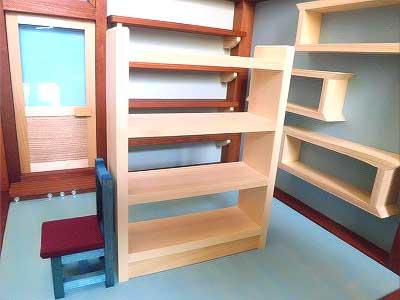 画像2: お店屋さんの棚(棚と椅子付き)