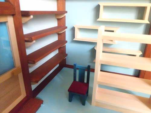 画像4: お店屋さんの棚(棚と椅子付き)