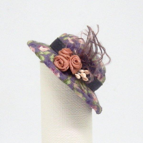 画像1: キャノチエ 紫花柄