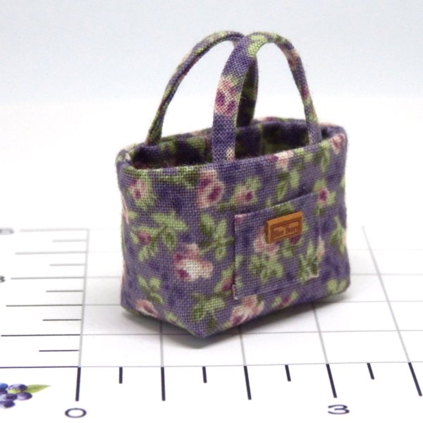 画像2: トートバッグ 紫花柄