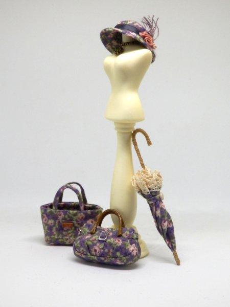 画像3: バッグ 紫花柄