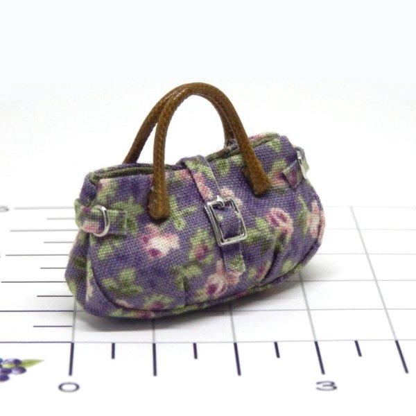 画像2: バッグ 紫花柄
