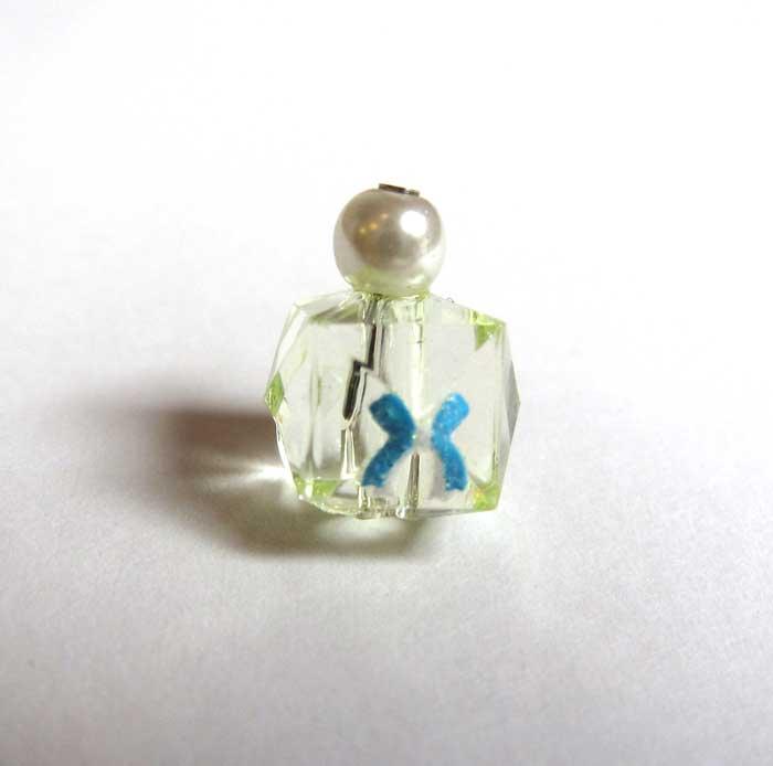 画像1: 化粧瓶イエロー・リボンワンポイント