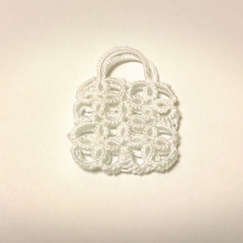 画像1: 花のレースのバッグ