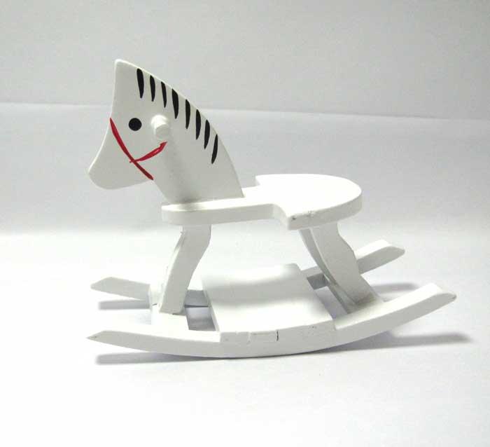 画像1: 木馬ホワイト2
