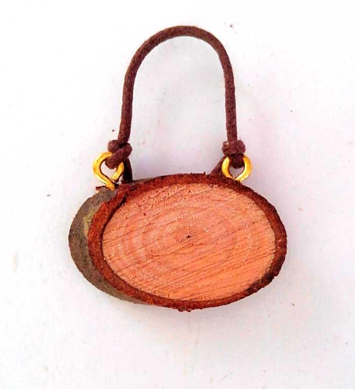 画像1: 天然木の表札