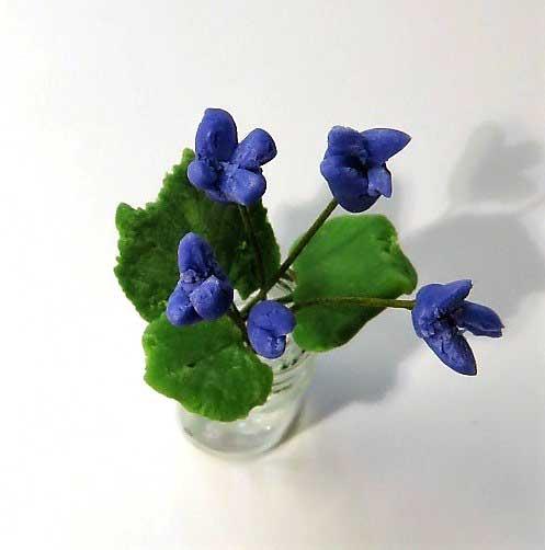 画像2: 紫小花(ガラス瓶入り)