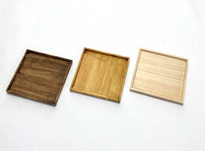 画像1: 木製トレー (中) 1枚