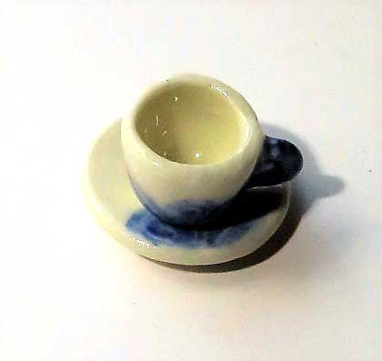 画像1: 青花カップ&ソーサー