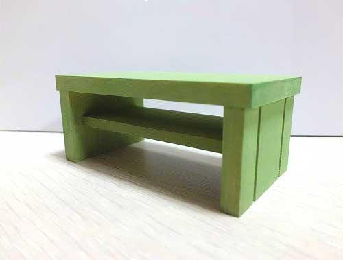 画像1: グリーンのミニテーブル