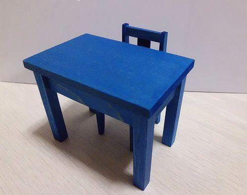 画像1: 青の机セット