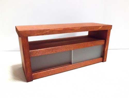 画像1: 茶色の横長棚