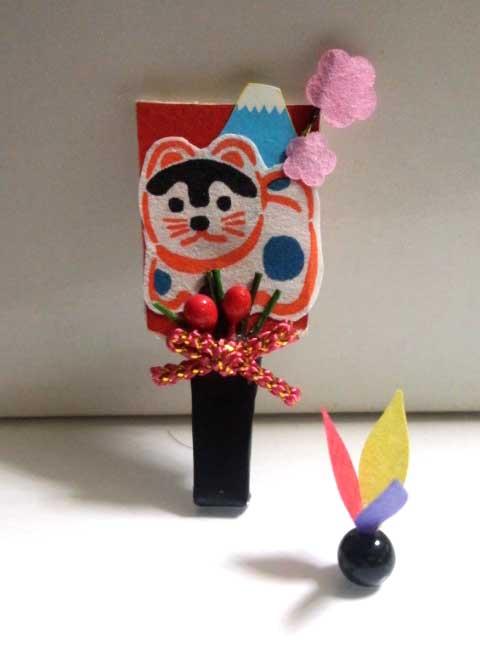 画像1: 羽子板セット(戌)