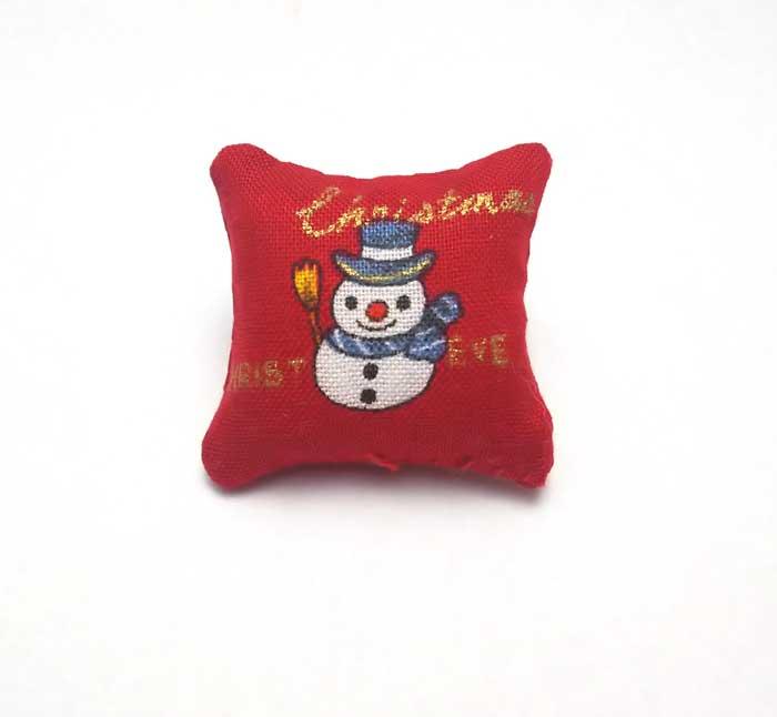 画像1: クッション(雪だるま&帽子)