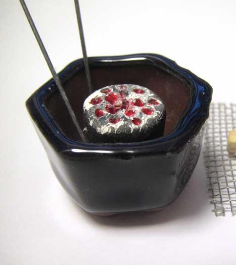 画像2: 火鉢セット紺色火鉢(1)
