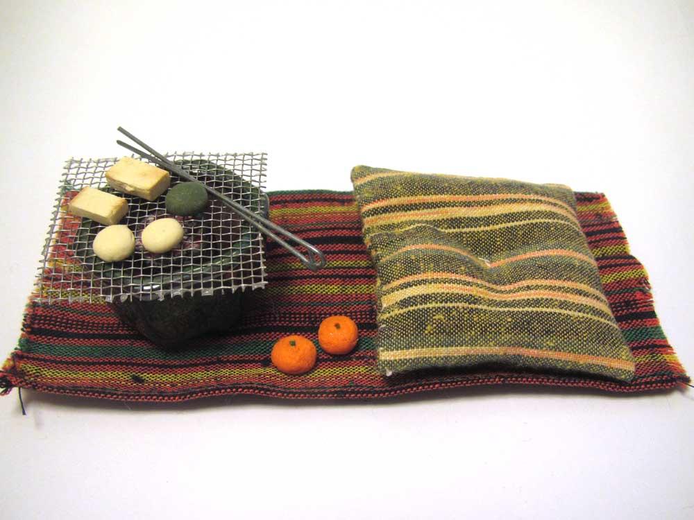 画像1: 火鉢セット緑色火鉢(2)