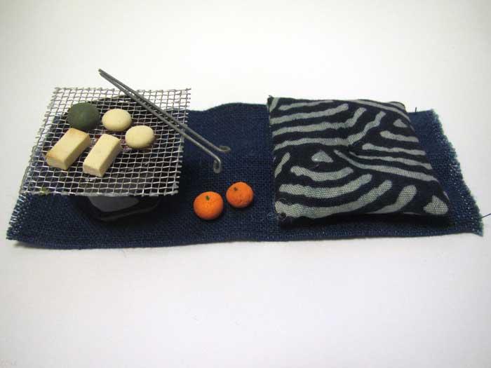 画像1: 火鉢セット紺色火鉢(1)