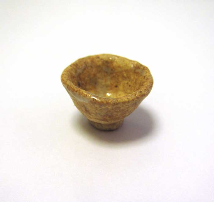 画像1: 陶芸・飯椀・ベージュ