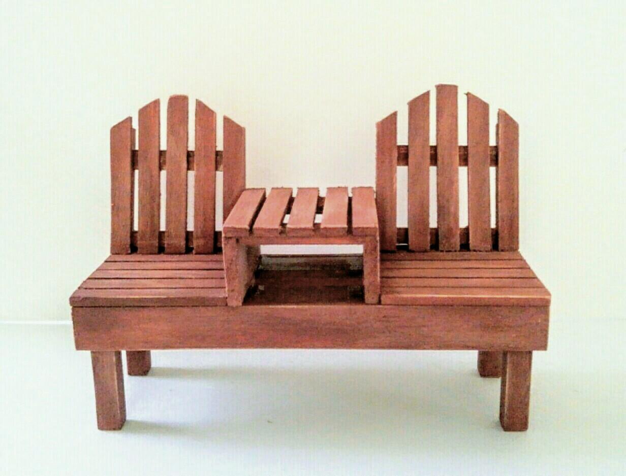 画像1: 2人掛けベンチ