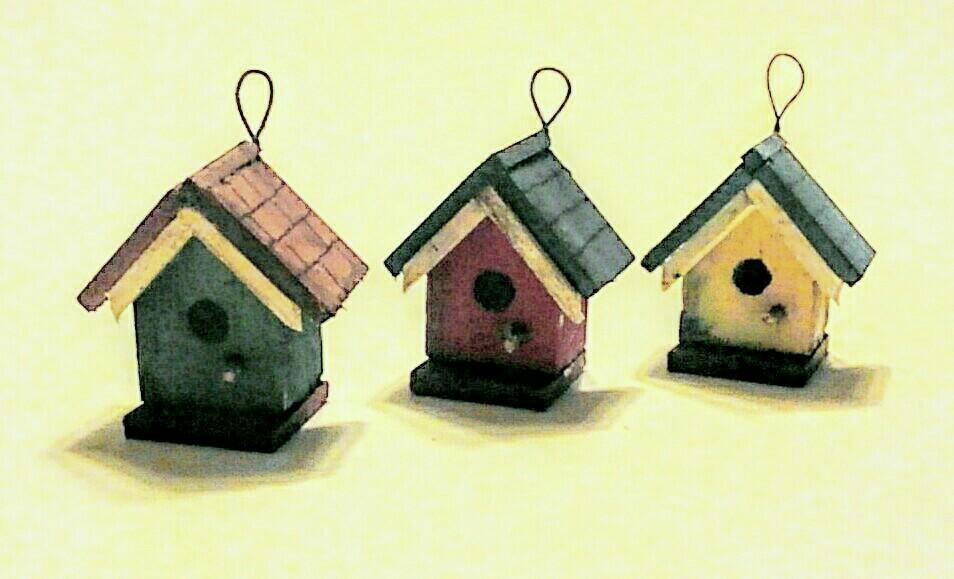 画像2: 鳥の巣箱(赤)
