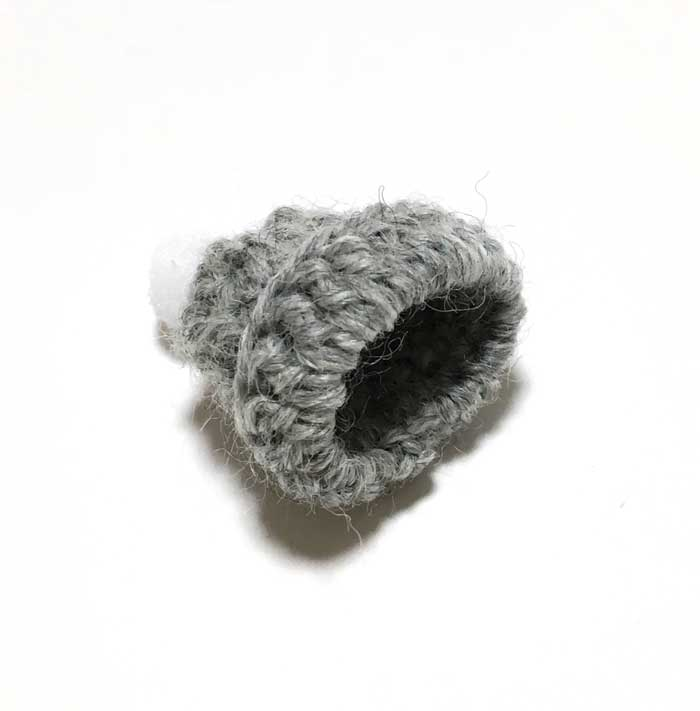 画像3: ポンポンつき ニット帽 (グレー)
