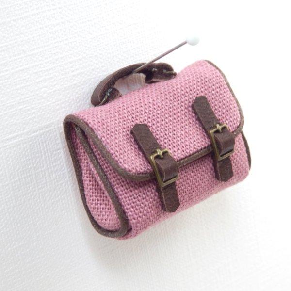 画像1: サッチェルバッグ ピンク
