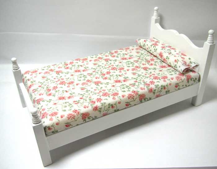 画像2: シングルベッド白花柄(処分品)