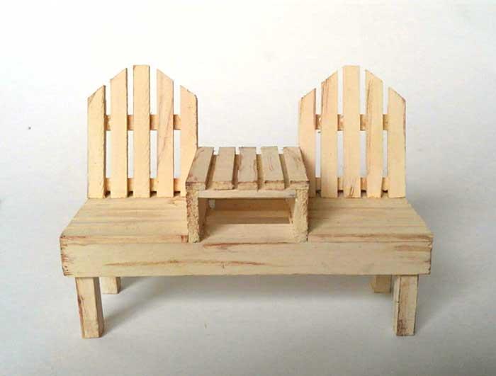 画像1: 2人掛けベンチ(ソフトホワイト)