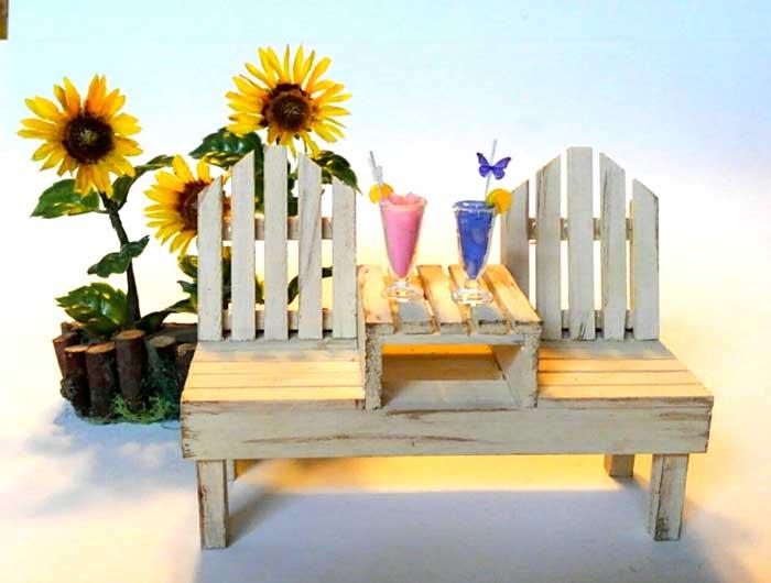 画像3: 2人掛けベンチ(ソフトホワイト)