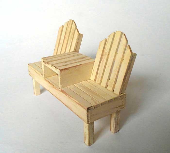 画像2: 2人掛けベンチ(ソフトホワイト)