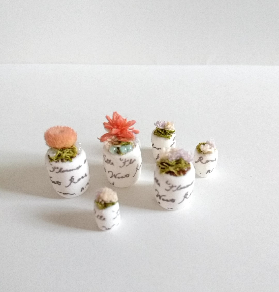 画像2: ミニチュア植物、6点セット