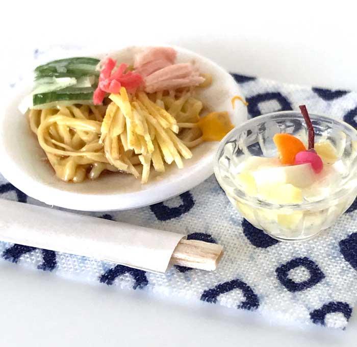画像3: 冷やし中華と杏仁豆腐