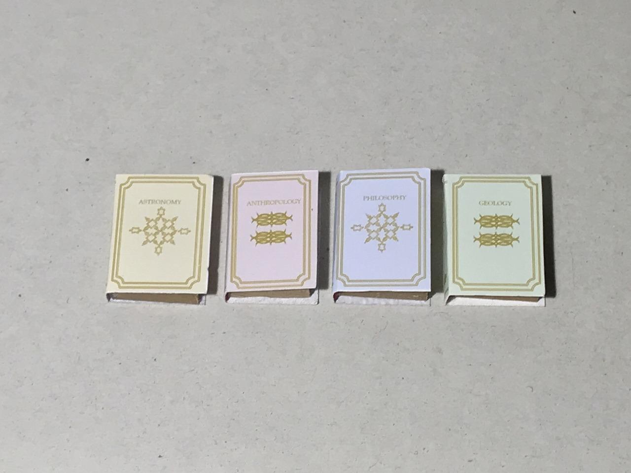 画像1: パステルカラー表紙ミニチュアブック(4冊セット)