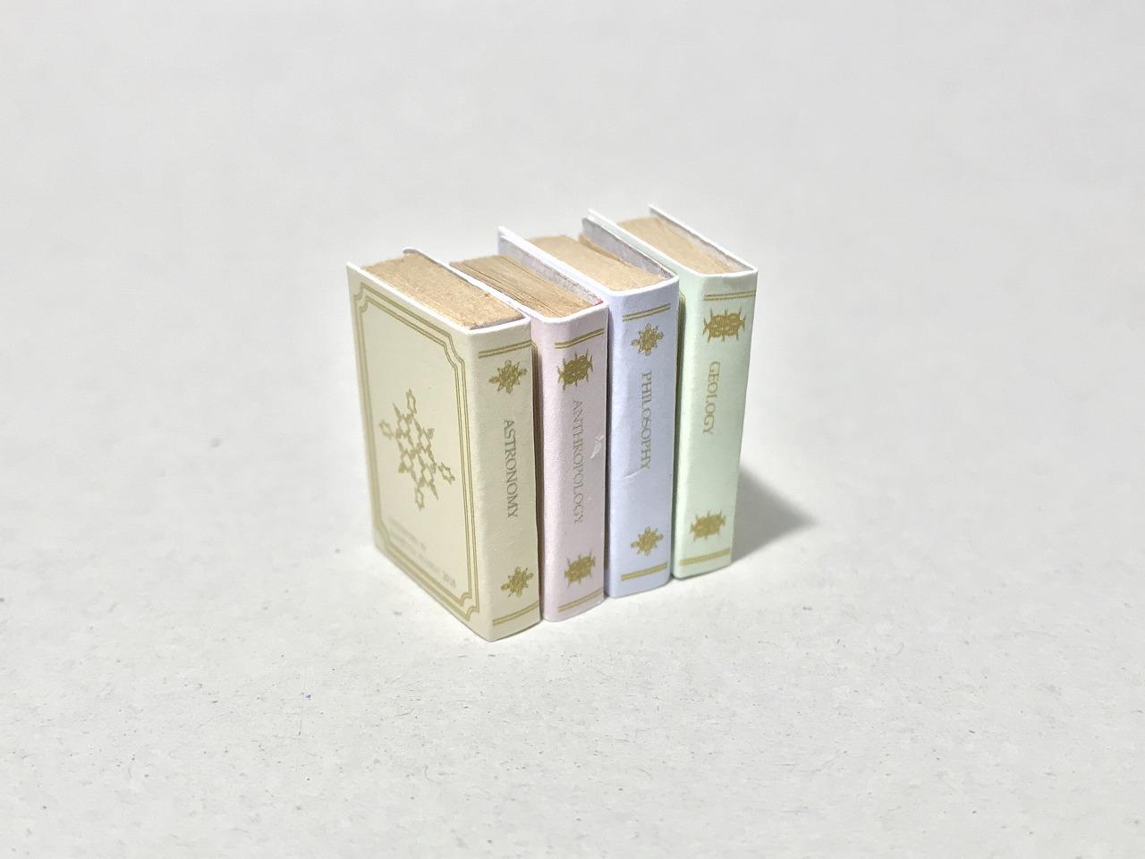 画像2: パステルカラー表紙ミニチュアブック(4冊セット)