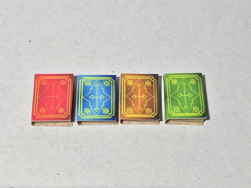 画像1: アンティークプリント表紙ミニチュアブック(4冊セット)