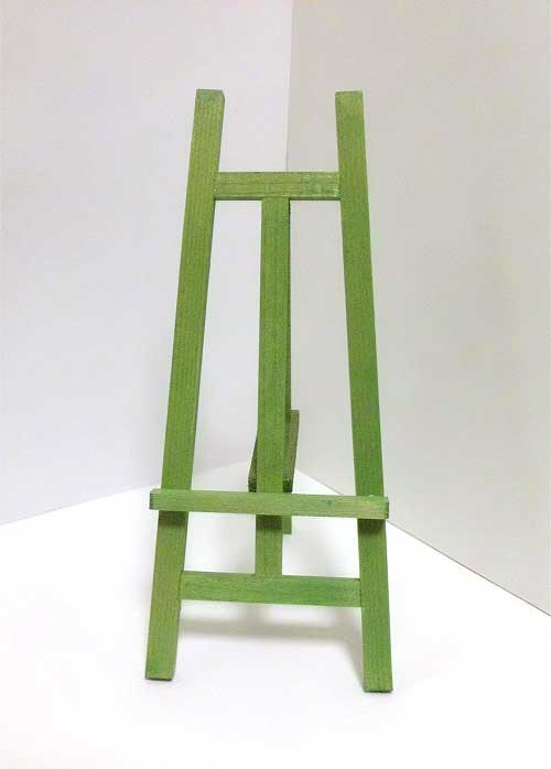 画像1: 木製イーゼル・グリーン