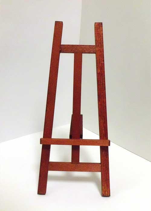 画像1: 木製イーゼル・茶