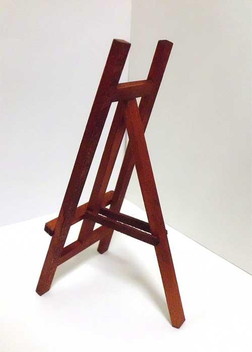 画像3: 木製イーゼル・茶