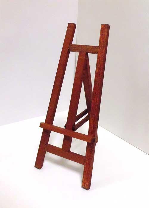 画像2: 木製イーゼル・茶
