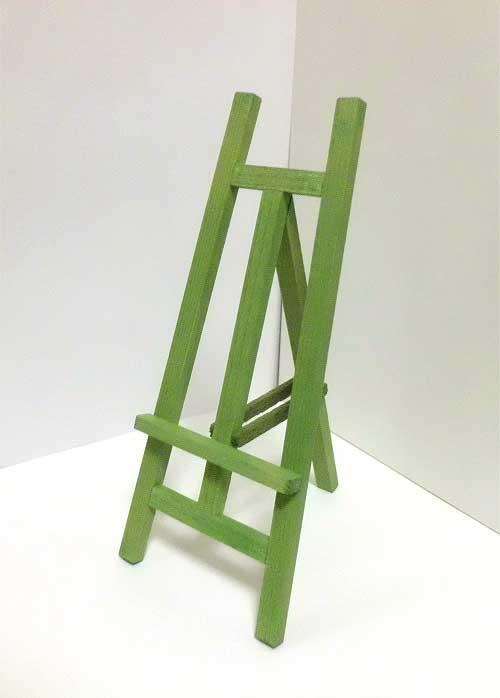 画像2: 木製イーゼル・グリーン