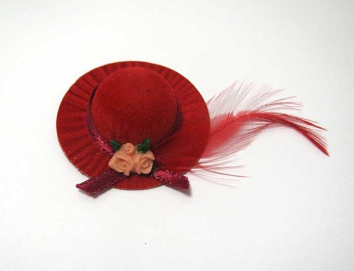 画像2: 赤羽根つき帽子